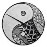 Wanduhr Yin und Yang