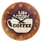 Horloge murale - Life begins after Coffee 02