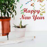 Wandtattoo Happy New Year