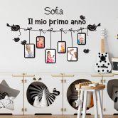 Wandtattoo + Name Il mio primo anno... mit Platz für Fotos