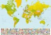 Papierbehang Wereldkaart