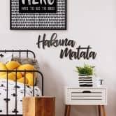 Decoratieletters Plexiglas Hakuna Matata (2-delig)