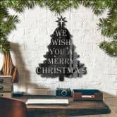 Acryldecoratie We wish you a merry christmas