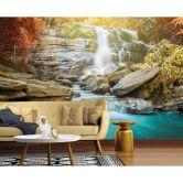 Livingwalls Fototapete Designwalls Waterfall Wasserfall