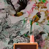 Livingwalls papier peint photo Walls by Patel funky birds 1