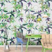 Livingwalls Fototapete Walls by Patel mosaic lilies 3