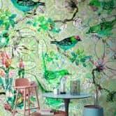 Livingwalls Fototapete Walls by Patel mosaic birds 1