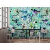 Livingwalls Fototapete Walls by Patel mosaic birds 3