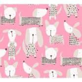 A.S. Création Papiertapete Boys & Girls 6 Tapete mit niedlichen Hunden rosa, weiß