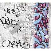 A.S. Création Papiertapete Boys & Girls 6 Tapete mit Graffiti blau, grau, rot