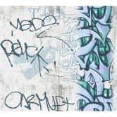 A.S. Création Papiertapete Boys & Girls 6 Tapete mit Graffiti grau, grün, schwarz