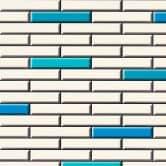 A.S. Création Tapete il Decoro in Klinker Optik blau, creme, schwarz