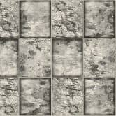 A.S. Création Tapete il Decoro in Fliesen Optik metallic, schwarz, weiß