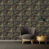A.S. Création Vliestapete Sumatra Tapete mit Palmenblättern schwarz, grün, orange