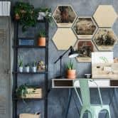 Hexagon - Holz Birke-Furnier - George Town Kollektion (6er Set)