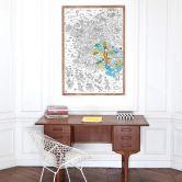 Poster géant à colorier- La France  (70 x 100 cm)