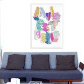 Poster da colorare OMY-La vie est belle