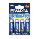 VARTA High Energy Batterien AA 4er Pack (AA, Mignon, LR 06, AM-3, UM-3)