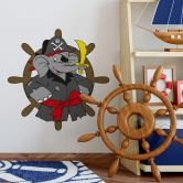 Elephant Benjamin as Captain Wall sticker