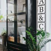 Alu-Dibond Decoratieletters - Shabby