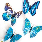 3D Wandtattoo Schmetterling Set 12-tlg - Blau