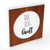 Dekobild + Passepartout - Du, ich, läuft (Mahagoni)