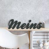MDF-Holzbuchstaben Meins
