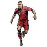 Wandsticker FC Bayern Comic Spieler Franck Ribéry