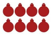 Filz-Set Weihnachtskugel (8-teilig) mit Aufhänger