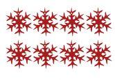 Filz-Set Schneeflocke (8-teilig) mit Aufhänger