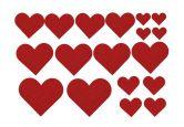 Filz-Set Herzen-Vielfalt (20-teilig)