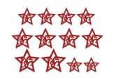 Filz-Set Tribal-Star (12-teilig)