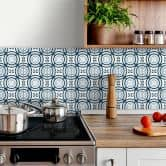 Tile stickers floral