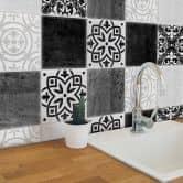 Tile stickers patchwork concrete