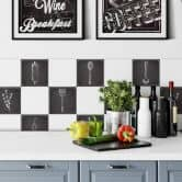 Tile stickers Rustic Kitchen