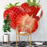 Fototapete Strawberries - 240x260 cm