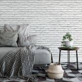 Papier Peint Photo Briques blanches