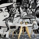 Sound of a Street-Musician - Photo Wallpaper
