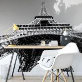 Papier peint photo - Tour Eiffel en noir et blanc