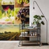 Fototapete Wein Collage - 240x260 cm
