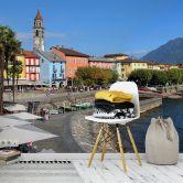 Fototapete Hafenpromenade am Lago Maggiore - 384x260 cm