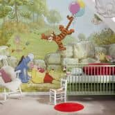 Photo Wallpaper Paper Winnie the Pooh Ballooning