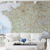 Fototapete Falk - Frankreich Landkarte