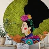 Fototapete Hülya - Frida im Portrait - Rund
