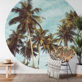 Behangcirkel Palmen