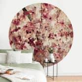 Behangcirkel Vintage Bloemen