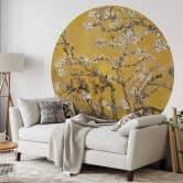 Papier peint photo van Gogh - Amandier en fleurs - Rond
