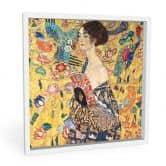 Wandbild Klimt - Dame mit Fächer