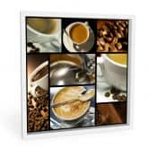 Wanddecoratie Koffie Veelvoud - vierkant