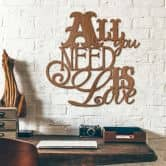 All you need is love – mahogany wood